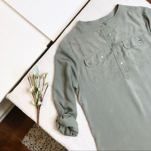 Anthropologie Olive Green Tunic
